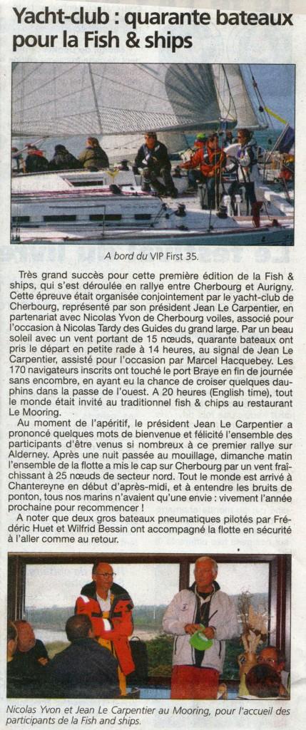 Article de la Presse de la Manche du 26 mai 2011