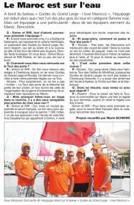 Deux marocains font partie de l'équipage réduit sur le bateau des Guides du Grand Large, Twinkle