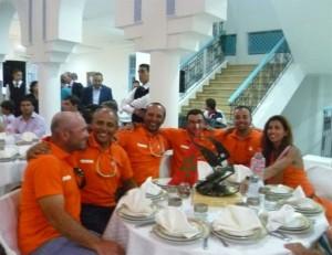 Une partie de l'équipage marocain