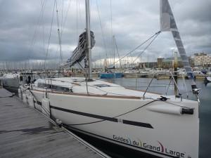 Docky Mouse, Dufour 36 au ponton à Cherbourg