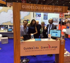 Stand des Guides du Grand Large au Nautic de Paris